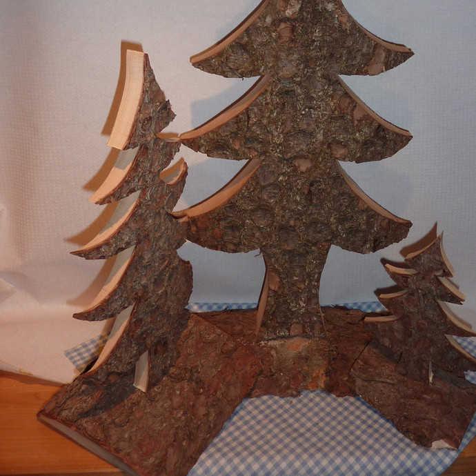tannenbaum rindenbaum 40 cm preis 12 50 eur schoene dekoartikel aus baumrinde alpendeko. Black Bedroom Furniture Sets. Home Design Ideas